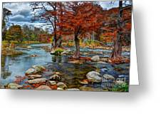 Guadalupe River In Autumn Greeting Card