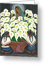 Guadalupe Visits Diego Rivera Greeting Card