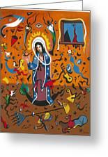 Guadalupe Visits Miro Greeting Card