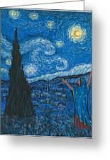 Guadalupe Visits Van Gogh Greeting Card