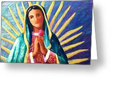 Guadalupe With Rose Greeting Card by Candy Mayer