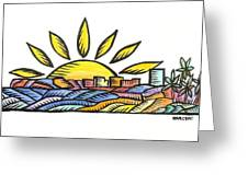 Guam Sunset 2009 Greeting Card