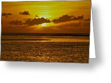 Guam Sunset Greeting Card