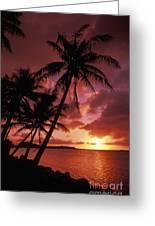 Guam, Tumon Bay Greeting Card