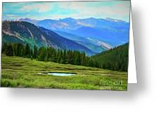 Guanella Pass Impression Greeting Card