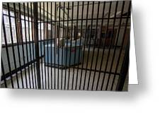 Guard Desk Inside Prison Cellblock Greeting Card