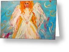 Guardian Angel Greeting Card by Barbara Pirkle