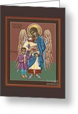 Guardian Angel Guarding Little Elijah Gemmell 191 Greeting Card