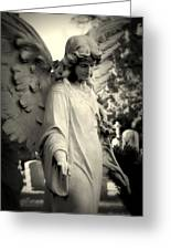 Guardian Angel Watching Over Greeting Card