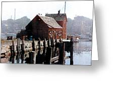 Guardian Of The Harbor Greeting Card