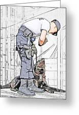 Guarding The City Greeting Card