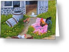Guarding The Hen House Greeting Card