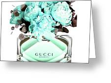 Gucci Blue Perfume Greeting Card
