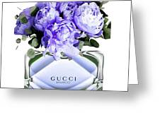 Gucci Perfume With Flower Greeting Card