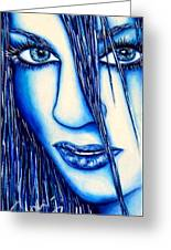 Guess U Like Me In Blue Greeting Card