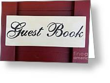 Guest Book  Greeting Card