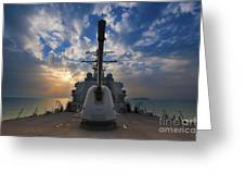 Guided-missile Destroyer Uss Higgins Greeting Card
