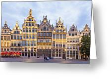 Guild Houses At The Grote Markt Greeting Card
