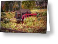 Guildhall Grist Mill In Fall Greeting Card