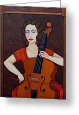 Guilhermina Suggia - Woman Cellist Of Fire Greeting Card