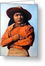 Guillermo Ortega Seri Indian Greeting Card by Evelyne Boynton Grierson
