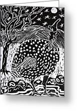 Guinea Fowl Under The Stars Greeting Card