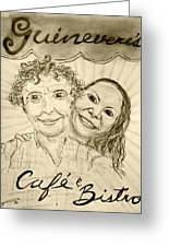 Guinevere's Cafe And Bistro Greeting Card