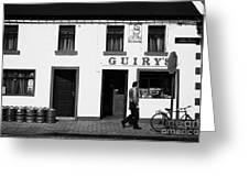 Guirys Irish Pub Foxford County Mayo Ireland Greeting Card by Joe Fox