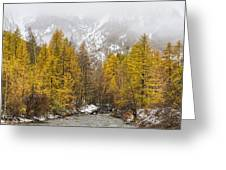 Guisane Valley In Autumn - French Alps Greeting Card