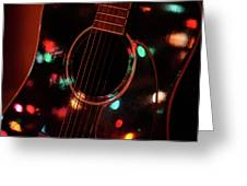 Guitar And Lights Greeting Card