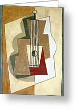 Guitar, By Pablo Picasso, 1919, Kroller-muller Museum, Hoge Velu Greeting Card