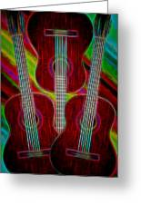 Guitar Fantasy Four Greeting Card