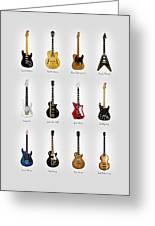 Guitar Icons No2 Greeting Card
