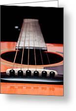 Guitar Orange 19 Greeting Card