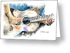 Guitar Riffs... Greeting Card