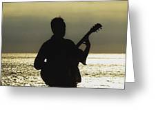 Guitar Silhouette Greeting Card
