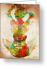 Guitar Siren Greeting Card