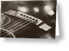 Guitar Strings Greeting Card
