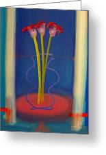 Guitar Vase Greeting Card
