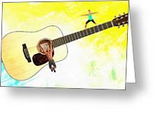 Guitar Workout Greeting Card