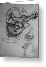 Guitarist Greeting Card