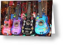 Guitarras Floriadas II Greeting Card