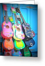 Guitarras Floriadas Greeting Card