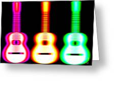 Guitars On Fire Greeting Card by Andy Smy