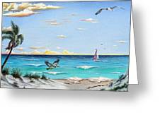 Gulf Beach Pathway Greeting Card
