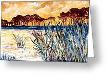 Gulf Coast Seascape Tropical Art Print Greeting Card