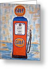 Gulf Gas Pump Greeting Card