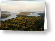 Gulf Islands Aerial Greeting Card