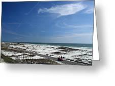 Gulf Of Mexico At Pensacola Beach Greeting Card