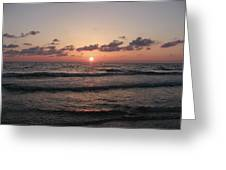 Gulf Sunset Greeting Card